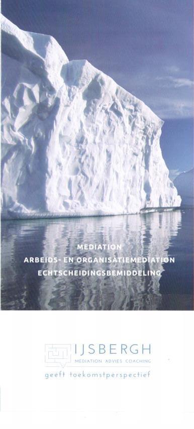 Brochure IJSbergh mediation advies coaching
